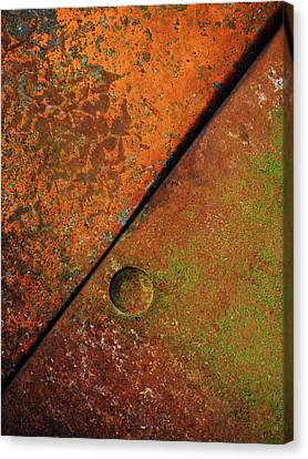Triangular ...raw Steel Canvas Print by Tom Druin