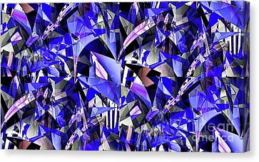 Triangulate Canvas Print by Ron Bissett