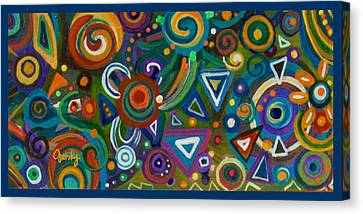 Triangulation Canvas Print by Paintings by Gretzky