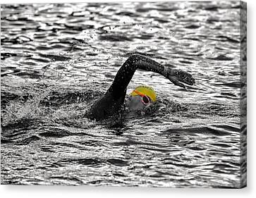 Triathlon Swimmer Canvas Print by Ari Salmela