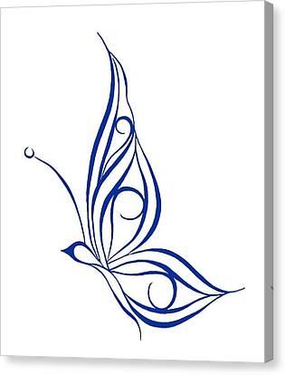 Tribal Butterfly Canvas Print by Tina Barnash