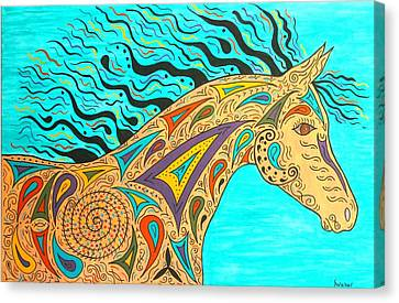Tribal Carnival Spirit Horse Canvas Print