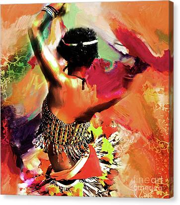 Tribal Dance 0321 Canvas Print