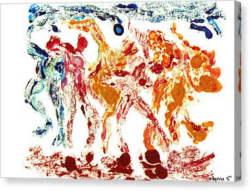 Tribal Dance Canvas Print by M Images Fine Art Photography and Artwork