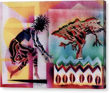 Tribal Dancer Canvas Print