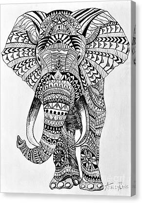 Tribal Elephant Canvas Print