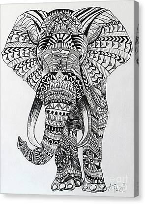 Tribal Elephant Canvas Print