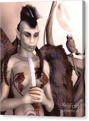 Tribal Elf Canvas Print by Jutta Maria Pusl
