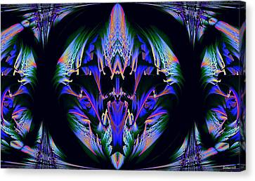 Tribal Fractal Canvas Print by Evelyn Patrick