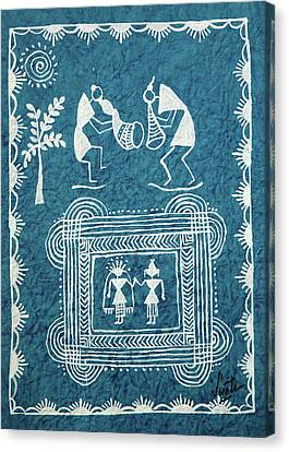 Tribal Gods Canvas Print by Swati Sharma