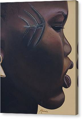 Tribal Mark Canvas Print by Kaaria Mucherera