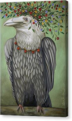 Canvas Print featuring the painting Tribal Nature by Leah Saulnier The Painting Maniac