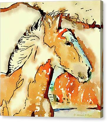 Tribal Pony Canvas Print by Michele Ross