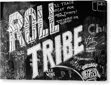 Tribe Graffiti Canvas Print