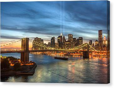 Tribute In Light I Canvas Print by Clarence Holmes