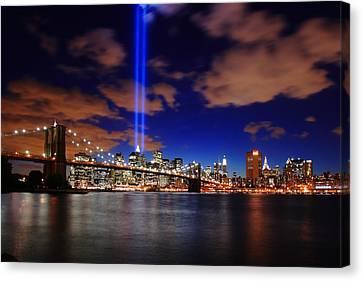 Tribute In Light Canvas Print by Rick Berk