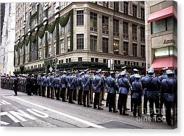 Police Officer Canvas Print - Tribute To A Fallen Brother by John Rizzuto
