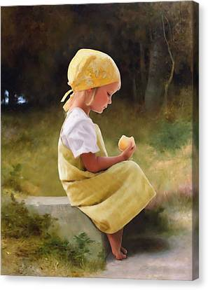 Tribute To Bouguereau  Canvas Print by Bob Nolin