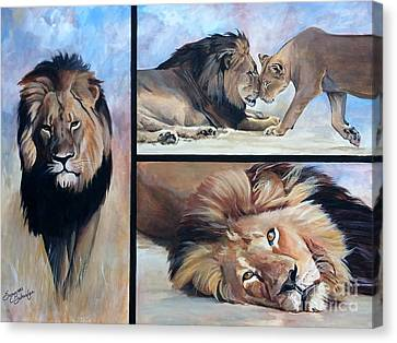 Tribute To Cecil The African Lion Canvas Print