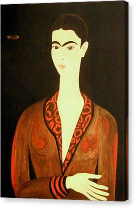 Canvas Print featuring the painting Tribute To Frida by Stephanie Moore