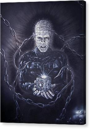 Tribute To Hellraiser Canvas Print by Jonathan Anderson