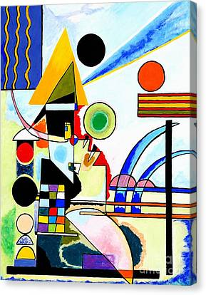 Tribute To Kandinsky Balancement Canvas Print by Art by Danielle