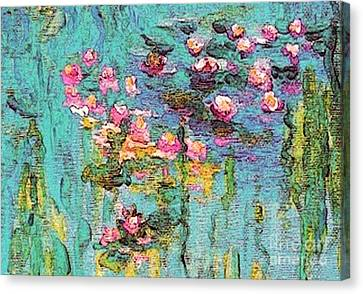 Tribute To Monet II Canvas Print by Holly Martinson