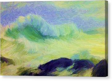 Oceanscape Canvas Print - Tribute To Th Gaede by Caito Junqueira