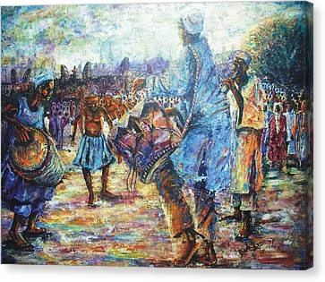 Tribute To The Royal Fathers Canvas Print by Bankole Abe