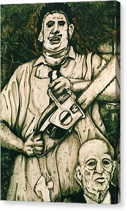 Tribute To The Texas Chainsaw Massacre Canvas Print by Sam Hane