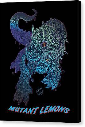 Jordan Canvas Print - Triceratrippin by Jordan Kotter