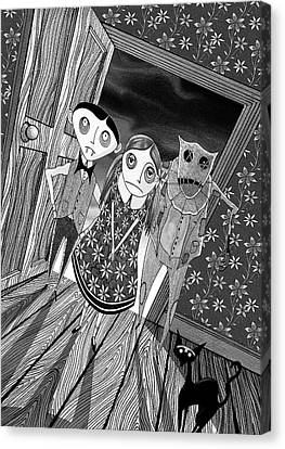 Dresses Canvas Print - Trick Or Treat  by Andrew Hitchen