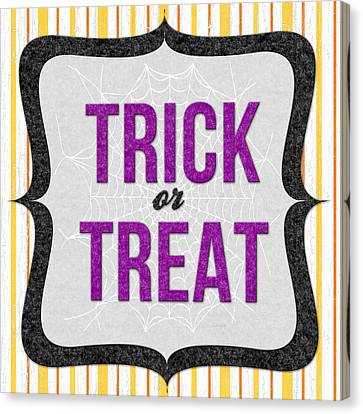 Trick Or Treat- Art By Linda Woods Canvas Print by Linda Woods