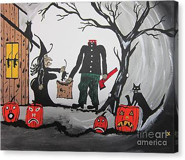 Well Endowed Canvas Print - Trick Or Treat. by Jeffrey Koss