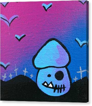 Tricky Zombie Mushroom Canvas Print