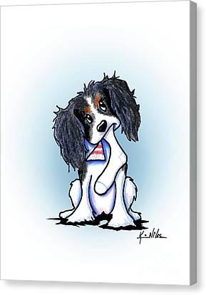 Tricolor Ckc Spaniel Canvas Print by Kim Niles