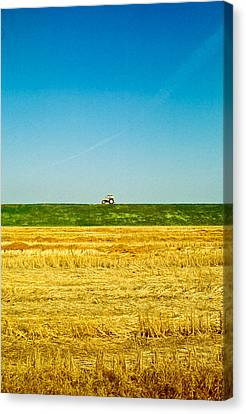 Tricolor With Tractor Canvas Print