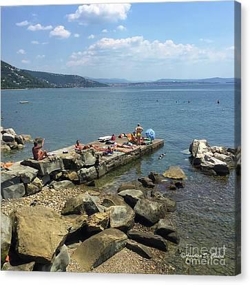 Trieste Miramare Beach Canvas Print by Italian Art