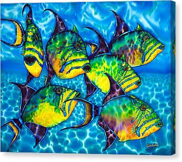 Trigger Fish - Caribbean Sea Canvas Print by Daniel Jean-Baptiste