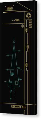 Trigonal On Black Canvas Print by IaPo