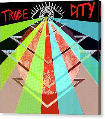 Canvas Print featuring the painting Triiibe City For Bxdizzy419 by Chief Hachibi