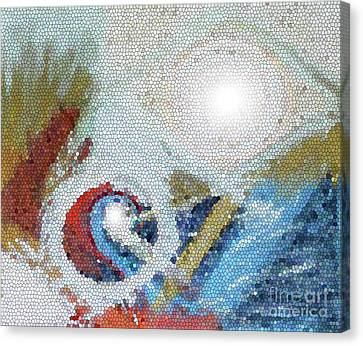 Canvas Print featuring the digital art Trilogy - Home Again by Ron Labryzz