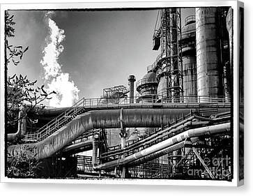 Canvas Print - Trinec Iron And Steel Works II by Mariola Bitner