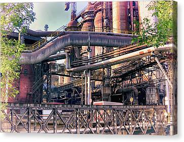 Canvas Print - Trinec Iron And Steel Works Iv by Mariola Bitner