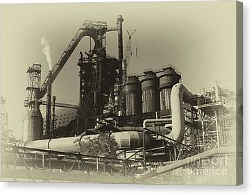 Canvas Print - Trinec Iron And Steel Works by Mariola Bitner