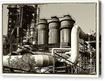 Canvas Print - Trinec Iron And Steel Works V by Mariola Bitner