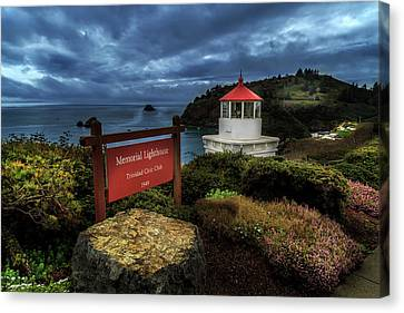 Canvas Print featuring the photograph Trinidad Memorial Lighthouse by James Eddy