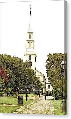 Trinity Church In Newport Ri Canvas Print by Diane E Berry
