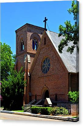 Canvas Print featuring the photograph Trinity Episcopal Church by Ken Frischkorn