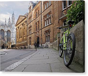 Great Cities Universities Canvas Print - Trinity Lane Clare College Cambridge Great Hall by Gill Billington
